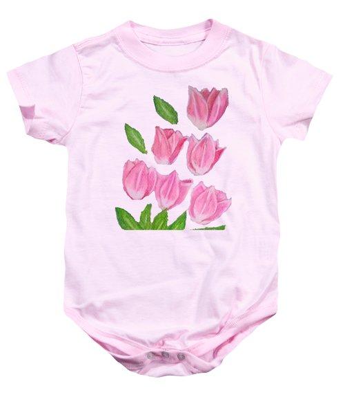 Elite Tulips Baby Onesie