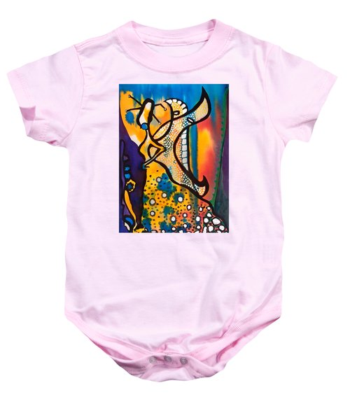 Baby Onesie featuring the painting Fairy Queen - Art By Dora Hathazi Mendes by Dora Hathazi Mendes
