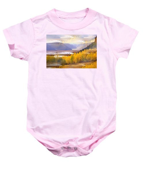 Fall In The Rockies Baby Onesie