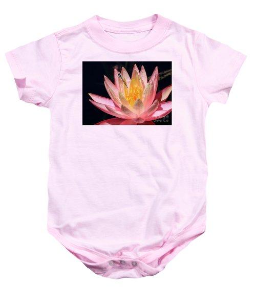 Familiar Bluet Damselfly And Lotus 2 Baby Onesie