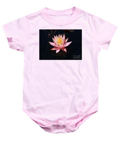 Familiar Bluet Damselfly And Lotus  Baby Onesie