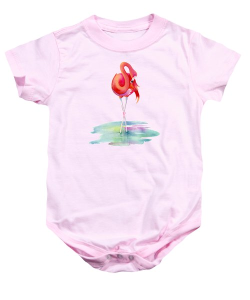 Flamingo Primp Baby Onesie