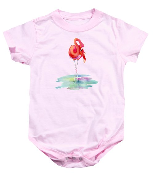 Flamingo Primp Baby Onesie