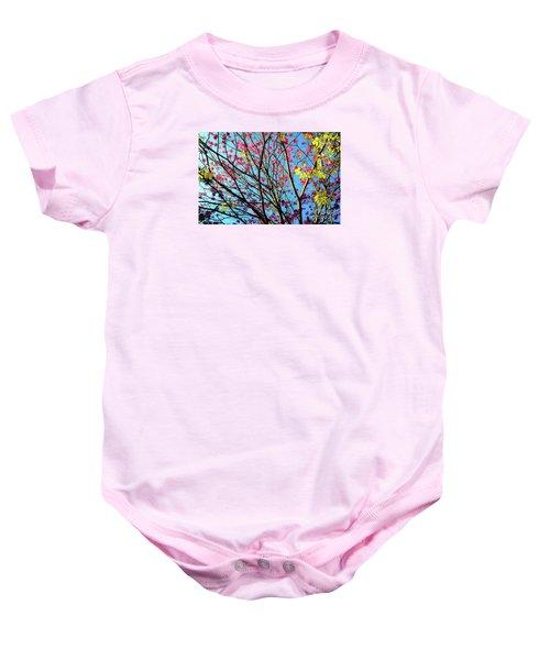 Flowers And Trees Baby Onesie