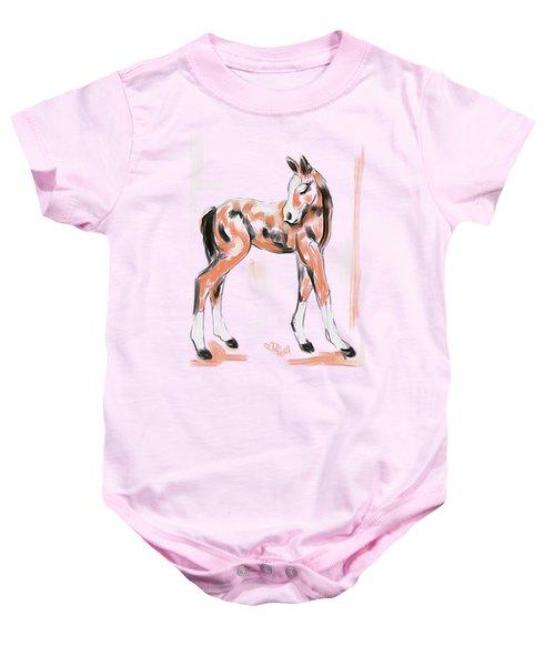 Foal Peach Baby Onesie