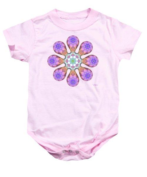 Fractal Blossom 2 Baby Onesie