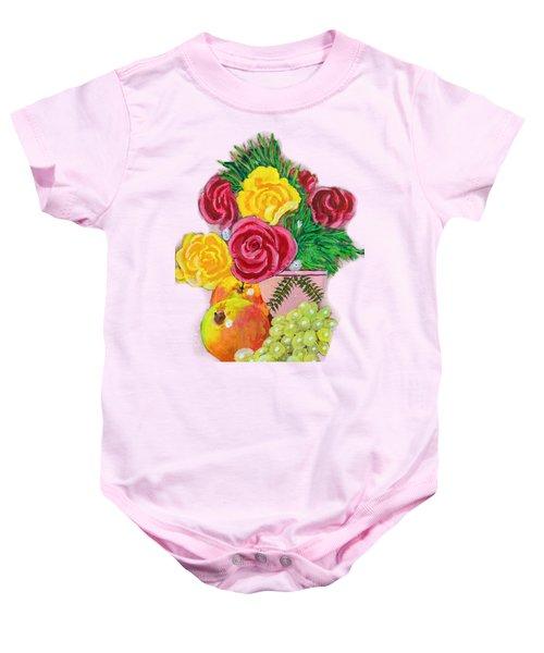 Fruit Petals Baby Onesie by Erich Grant