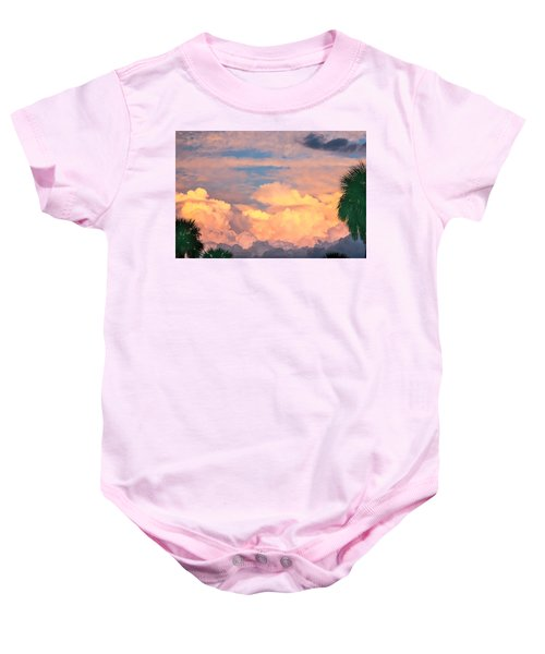 Ft De Soto Sunset Clouds Baby Onesie
