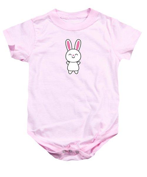 Funny Cute Rabbit Bunny In Pink Baby Onesie