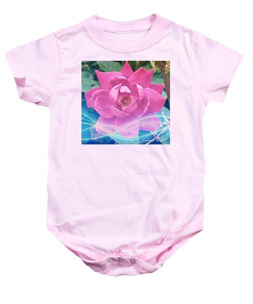 Fuschia Flower Energy Baby Onesie
