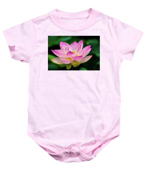 Gigantic Lotus Red Lily Baby Onesie