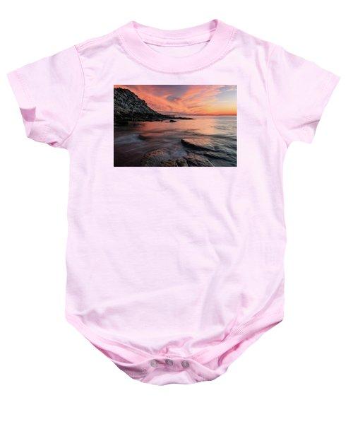 Granite Sunset Rockport Ma. Baby Onesie