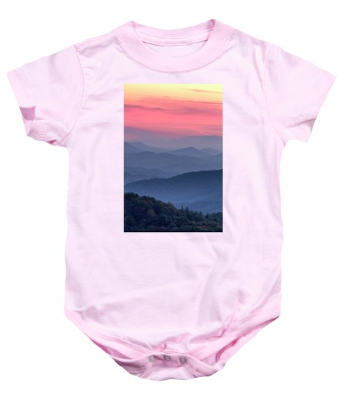 Great Smoky Mountain Sunset Baby Onesie