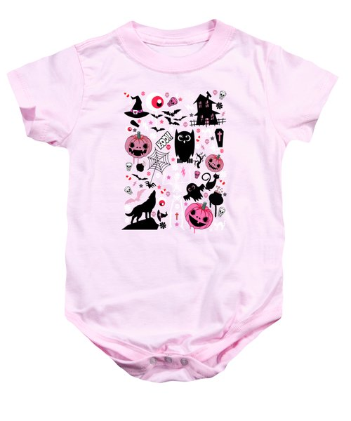 Halloween Night  Baby Onesie by Mark Ashkenazi