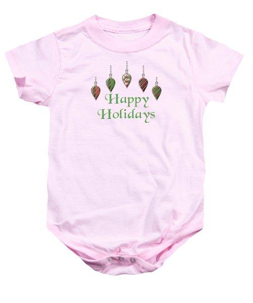 Happy Holidays Merry Christmas Baby Onesie