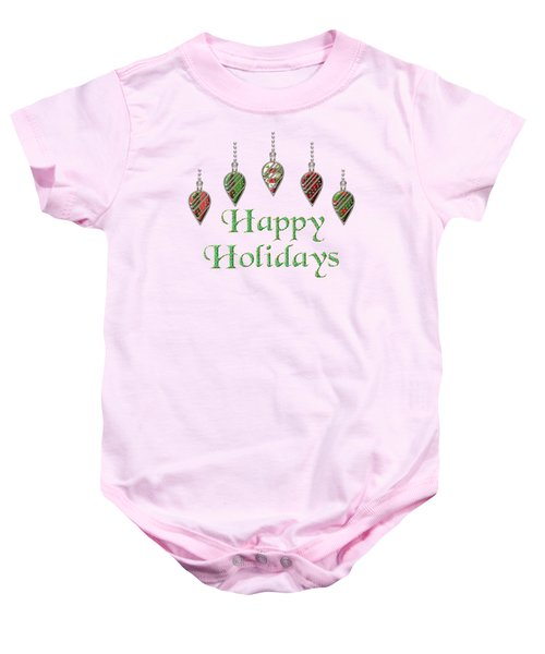 Happy Holidays Merry Christmas Baby Onesie