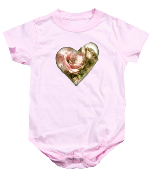 Heart Of A Rose - Antique Pink Baby Onesie