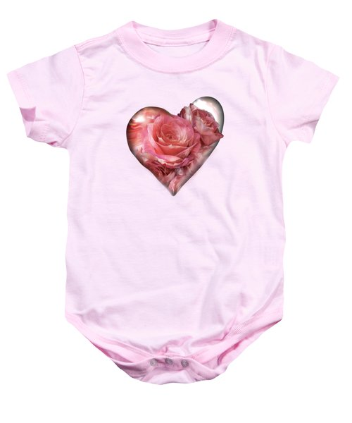 Heart Of A Rose - Melon Peach Baby Onesie