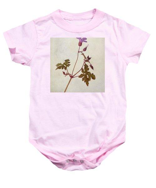 Herb Robert - Wild Geranium  #flower Baby Onesie