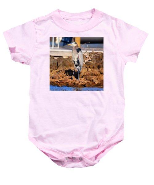 Heron On The Rocks Baby Onesie