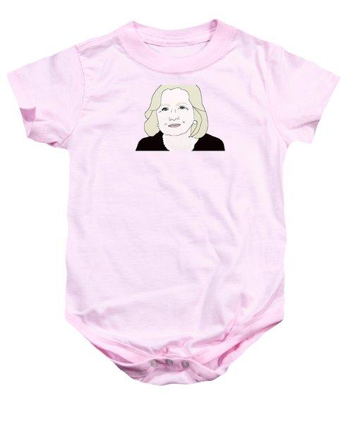 Hillary Clinton Baby Onesie by Priscilla Wolfe