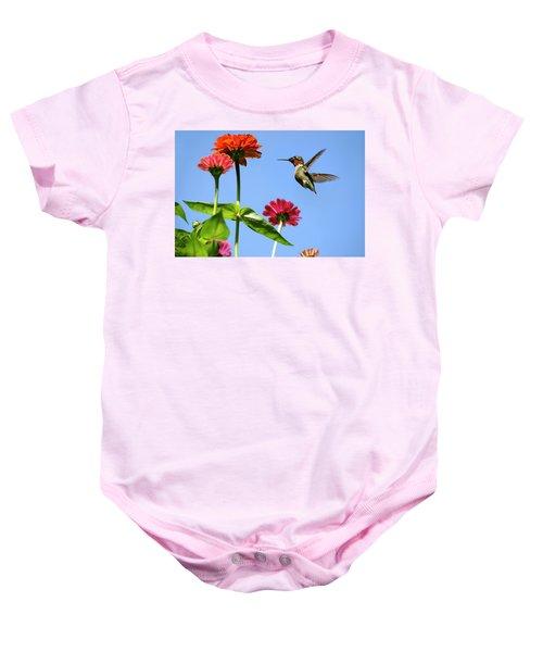 Hummingbird Happiness Baby Onesie