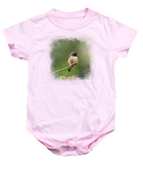 Hummingbird In The Garden Baby Onesie