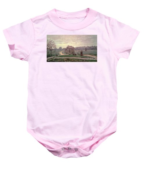 Hyde Park Baby Onesie by Claude Monet