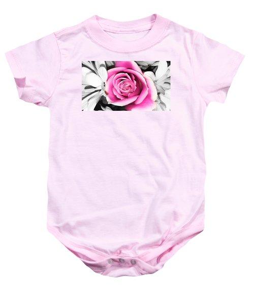 Hypnotic Pink 2 Baby Onesie
