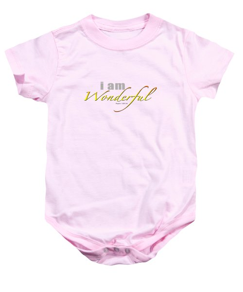 i am Wonderful Baby Onesie