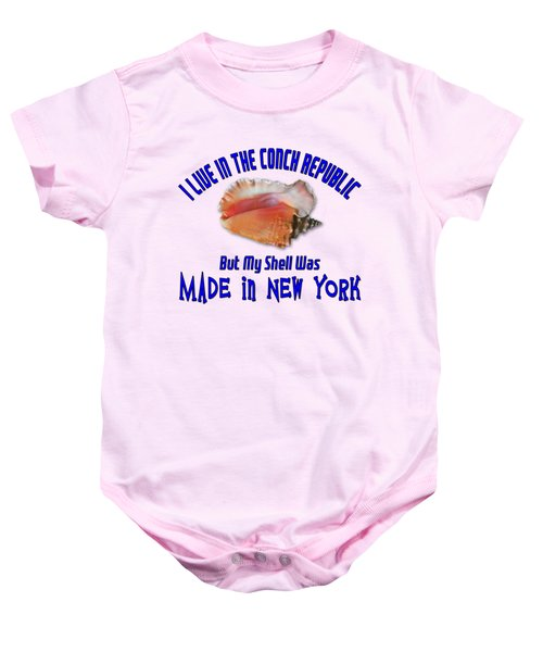 I Live In The Conch Republic Baby Onesie