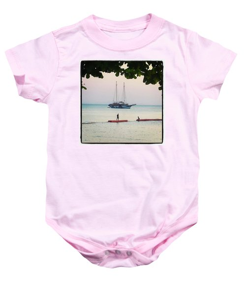 Baby Onesie featuring the photograph Idyllic Setting To Idle The Time Away by Mr Photojimsf