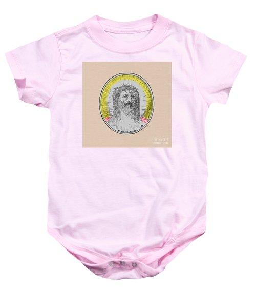 In Him We Trust Colorized Baby Onesie