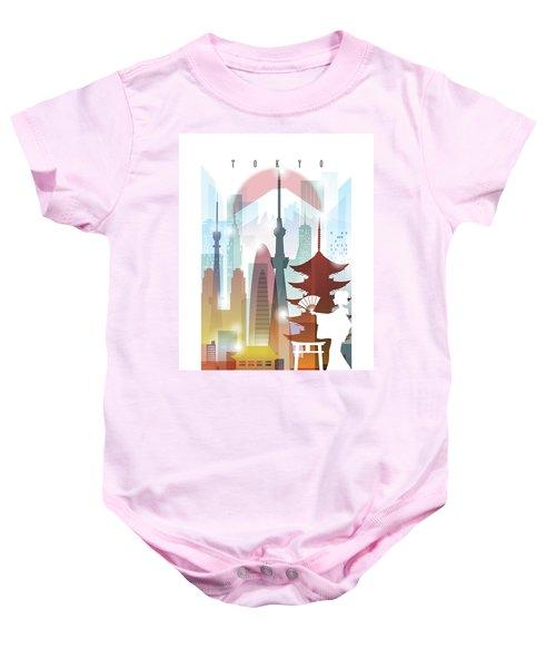 Japan Tokyo 2 Baby Onesie