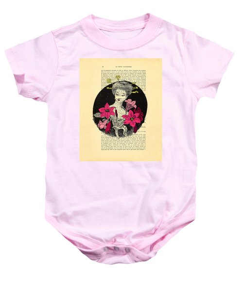 Japanese Lady With Cherry Blossoms Baby Onesie