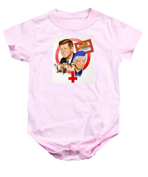Jfk And Elenore Roosevelt  Baby Onesie