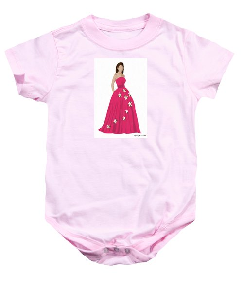 Baby Onesie featuring the digital art Justine by Nancy Levan