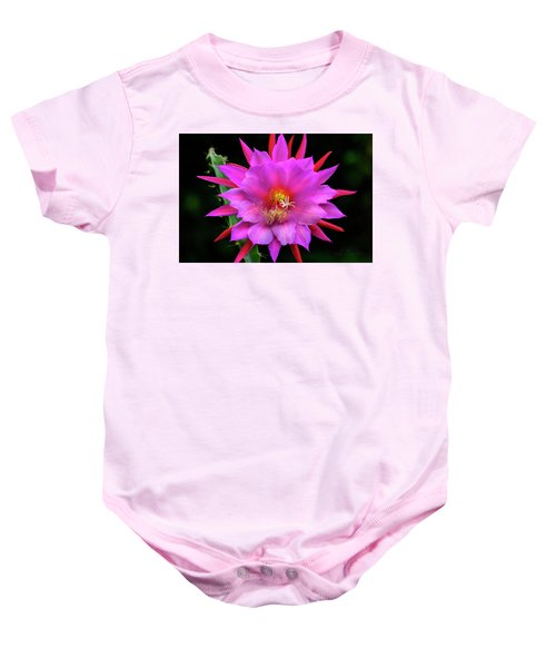 Kimnach's Pink Orchid Cactus Baby Onesie