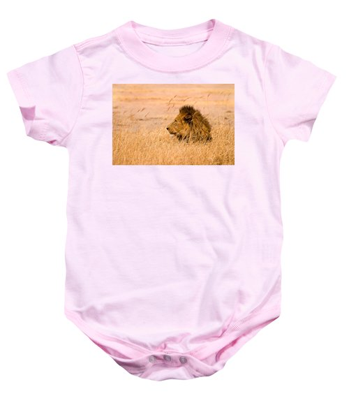 King Of The Pride Baby Onesie by Adam Romanowicz