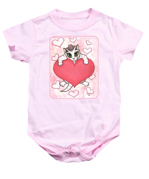 Kitten With Heart Baby Onesie