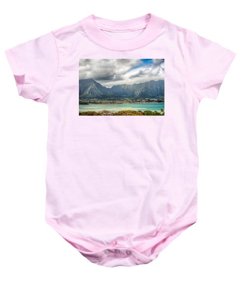 Ko'olau And H-3 In Color Baby Onesie