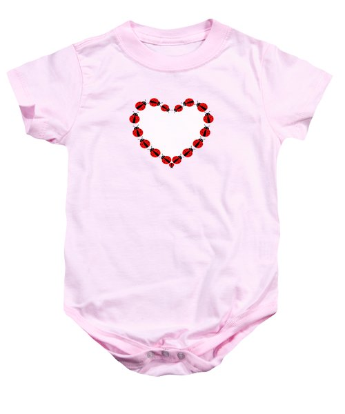 Lady Bug Heart Baby Onesie by UMe images