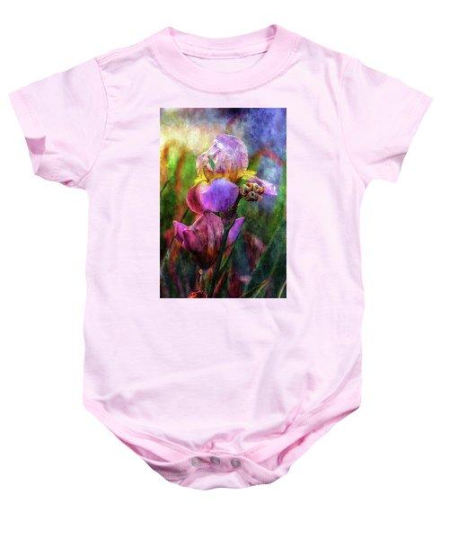 Lavender Iris Impression 0056 Idp_2 Baby Onesie