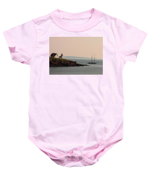 Lewis R French At The Curtis Island Lighthouse Baby Onesie