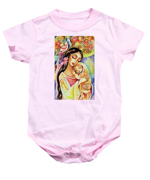 Little Angel Dreaming Baby Onesie by Eva Campbell
