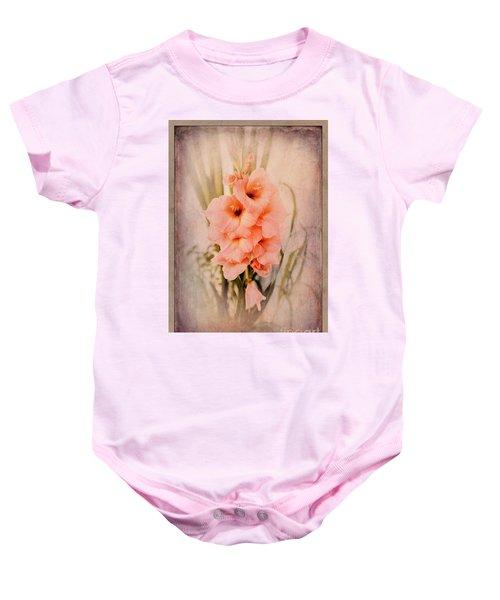 Lovely Gladiolus Baby Onesie