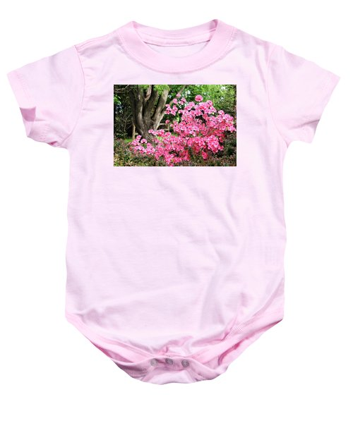 Lovely Pink Azalea Baby Onesie