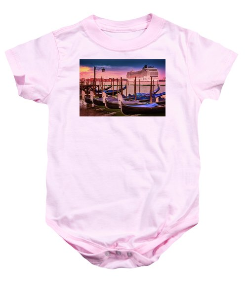 Magical Sunset In Venice Baby Onesie