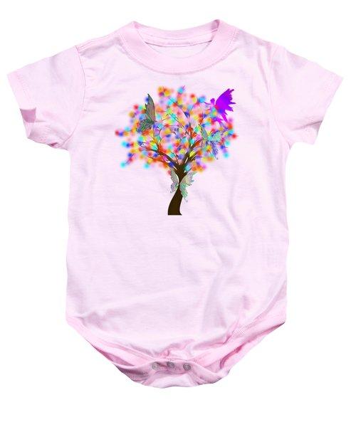 Magical Tree - Digital Art Baby Onesie