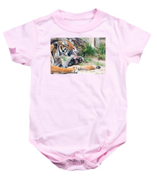 Malayan Tiger Grooming Baby Onesie